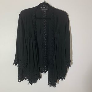Context for Lord and Taylor Boho cardigan black 2X
